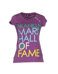 Franklin And Marshall Topwear T Shirts Women Mauve