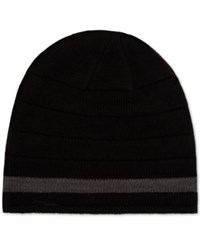 Calvin Klein Striped Beanie Black