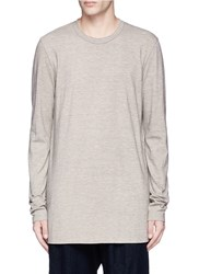 Ziggy Chen Cotton Long Sleeve T Shirt Brown