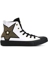 Converse 'All Star' Studded Star Sneakers White
