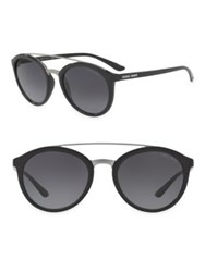 Giorgio Armani 52Mm Logo Round Sunglasses Grey