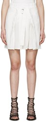 Ann Demeulemeester White Pleated Joan Miniskirt