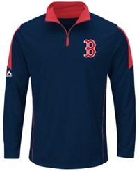 Majestic Men's Boston Red Sox Status Inquiry Half Zip Pullover Navy