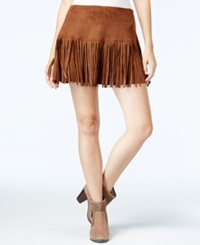 American Rag Fringed Perforated Faux Suede Mini Skirt Only At Macy's