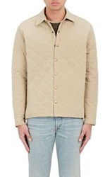 Simon Miller Men's Ladoga Diamond Quilted Cotton Canvas Jacket Beige Nude Beige Nude