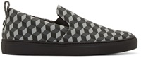 Christopher Kane Grey Cube Canvas Sneakers