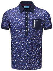 Bunker Mentality Cmax Floral Polo Navy
