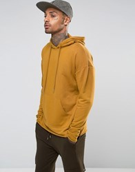 Sixth June Oversized Lightweight Hoodie With Raw Hem Tan