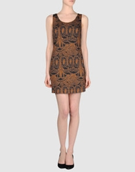 Tonello Short Dresses Brown