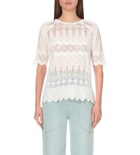 Ulla Johnson Sadie Cotton Voile Blouse Daisy