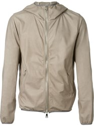 Giorgio Brato Hooded Zip Jacket Nude And Neutrals