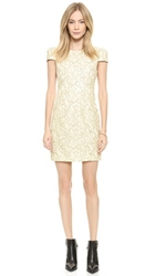 4.Collective Cap Sleeve Lace Dress Ivory Multi