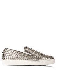 Christian Louboutin Roller Boat Spike Embellished Slip On Trainers