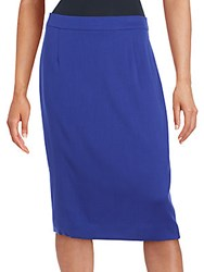 Escada Solid Fitted Skirt Blue