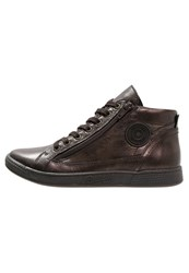 Pataugas Jane Hightop Trainers Choco Dark Brown