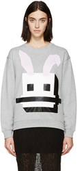 Mcq By Alexander Mcqueen Grey Bunny Graphic Pullover
