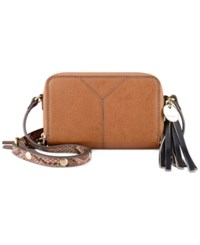 Nine West Tasseled And Tied Crossbody Tobacco