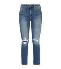 Paige Carter Slim Ripped Jeans Female Blue