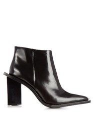 Marques Almeida M And A Letter Heel Leather Ankle Boots Black