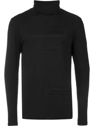 Blood Brother Turtle Neck T Shirt Black