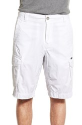 Men's Union 'Pacific Coast' Raw Hem Cargo Shorts White