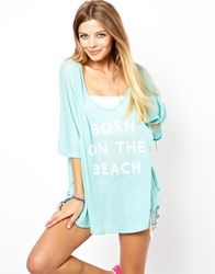 Wildfox Couture Wildfox Born On The Beach Tahiti Tunic Aquasky