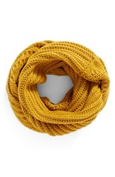 Women's Bp. Cable Knit Infinity Scarf Mustard
