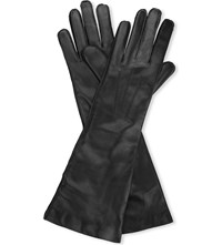 Ann Demeulemeester Cashmere Lined Leather Gloves Black