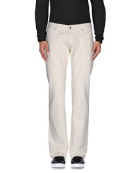 Cesare Paciotti 4Us Denim Denim Trousers Men White