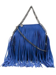 Stella Mccartney 'Falabella' Fringed Tote Blue