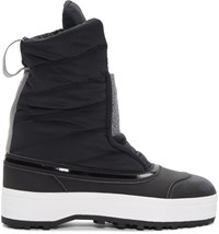 Adidas By Stella Mccartney Black Nangator 3 Winter Boots