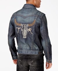 True Religion Men's Jummy Badlands Denim Jacket Worn Ranch