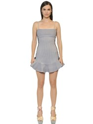 Just Cavalli Striped Bonded Cotton Jersey Dress