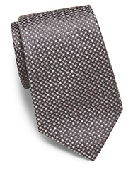 Valentino Neat Squares Silk Tie Charcoal
