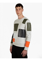 Christopher Raeburn Men's Silver Patch Print Sweatshirt