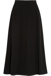 Givenchy Midi Skirt In Black Stretch Wool Crepe