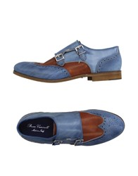 Bruno Cascinelli Footwear Moccasins Men Slate Blue