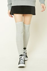 Forever 21 Cable Knit Over The Knee Socks