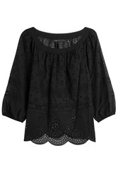 Marc By Marc Jacobs Embroidered Cotton Top Black