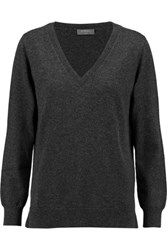N.Peal Cashmere Boyfriend Cashmere Sweater Charcoal