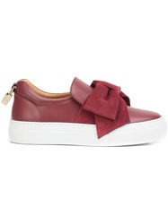 Buscemi Oversized Bow Sneakers Red