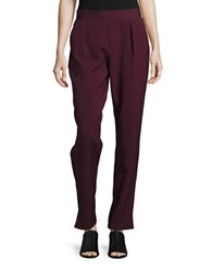 Highline Collective Pleated Leggings Burgundy