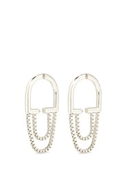 Eddie Borgo 'Allure' Padlock Hoop Box Chain Earrings Metallic