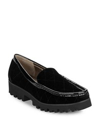 Donald J Pliner Roko2 Quilted Velvet Loafers Black