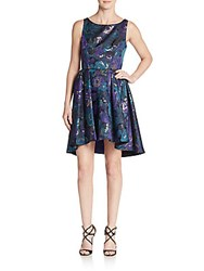 Abs By Allen Schwartz Floral Jacquard Cutout Fit And Flare Dress Multi