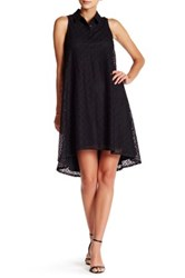 Maggy London Sleeveless Lace Shirt Dress Black