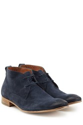 Baldessarini Burnished Suede Desert Boots Blue