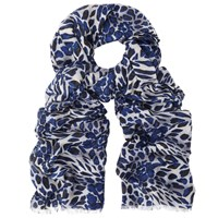 John Lewis Animal Print Scarf Midnight Multi