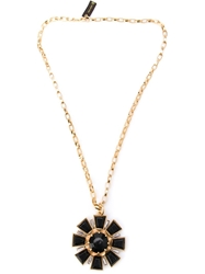 Gerard Yosca Large Deco Necklace Black