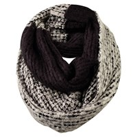 Fat Face Softie Yarn Snood Black Grey